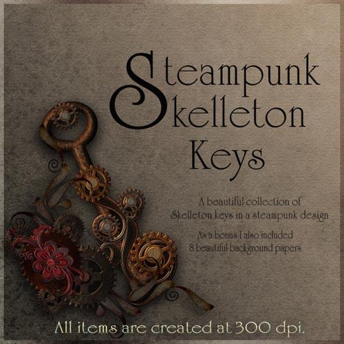 Steampunk Skelleton Keys