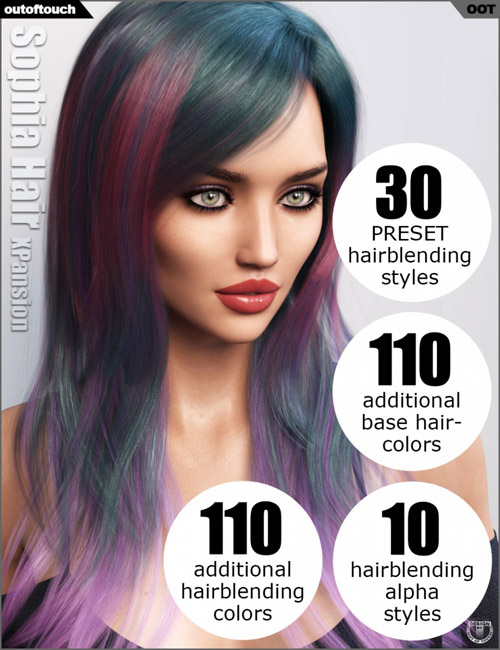 Sophia Hair and OOT Hairblending 2.0 Texture XPansion