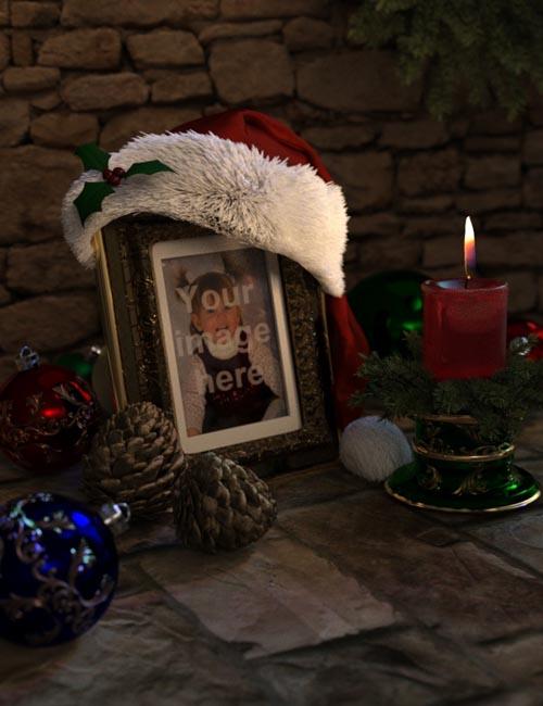 Christmas Frame and Candle Set