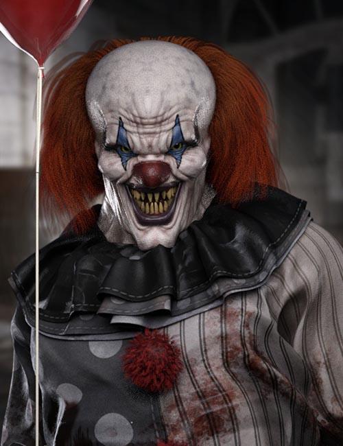 Evil Clown HD for Genesis 8 Male