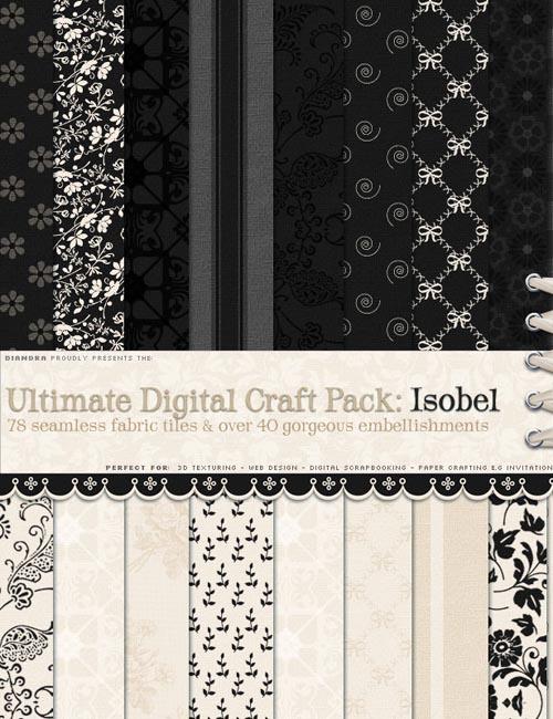 Ultimate Digital Fabric/Craft Pack : Isobel