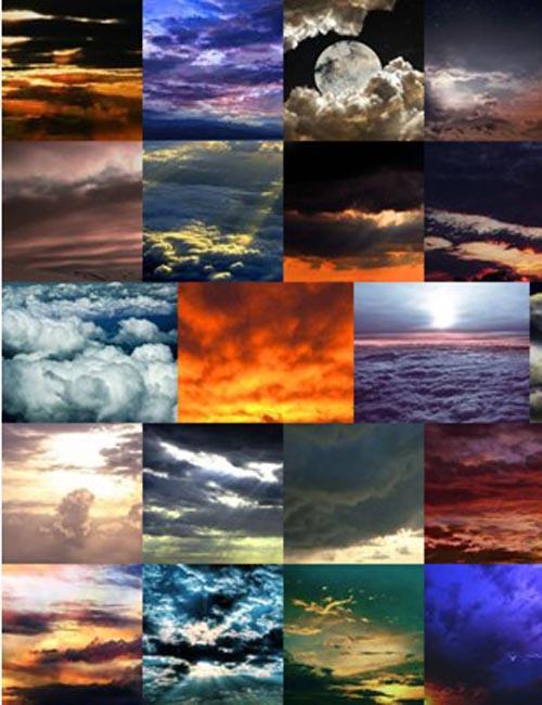 Steampunk Skies Background Pack Volume 1