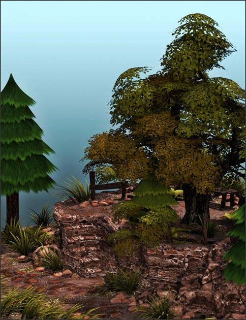 v176 Toon Forest Vignette