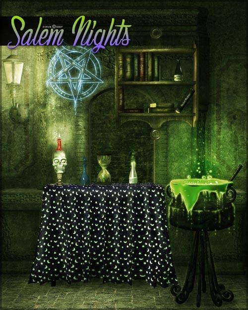 Salem Nights Background Mini Pack