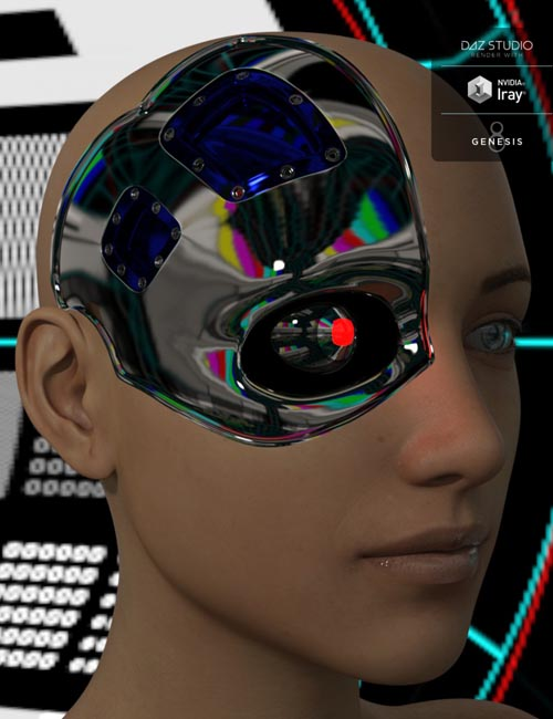 Cybernetic Head for Genesis 8 Female(s)