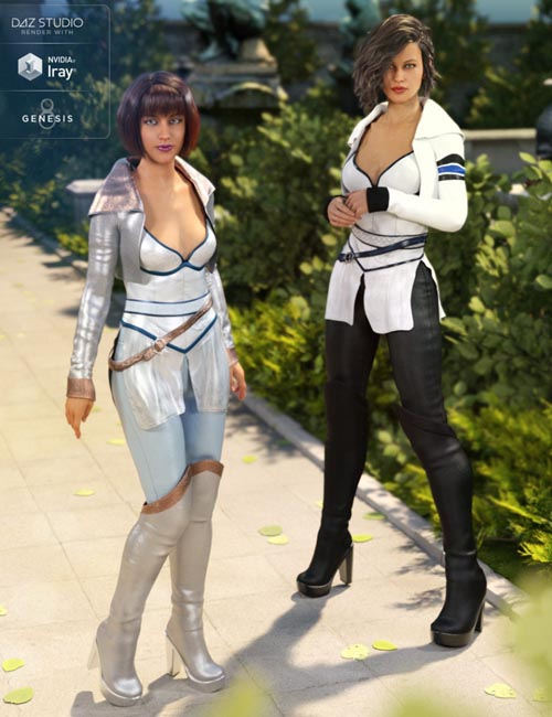 White Fox Outfit Textures