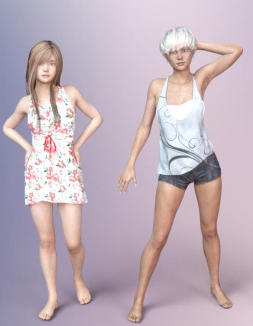 Teen Females II - Mid Teens - Shapes for Genesis 3 Female