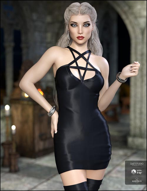 Lustrum Dress Outfit for Genesis 8 Female(s)
