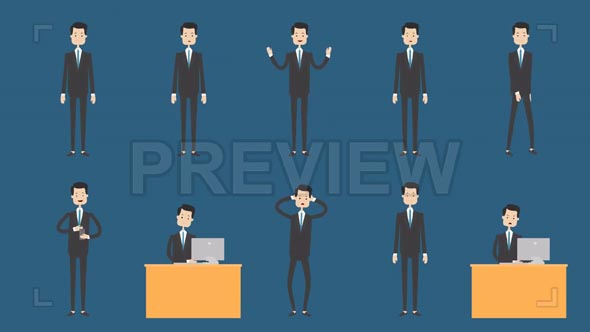 Businessman Animation Pack 1