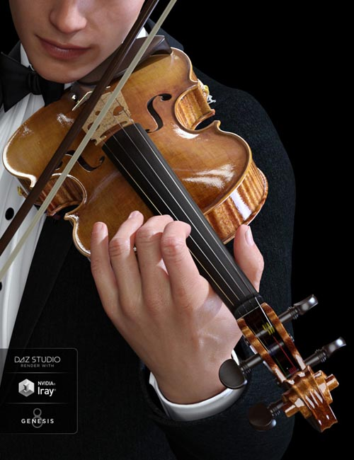 HD Violin and Poses for Genesis 3 and 8