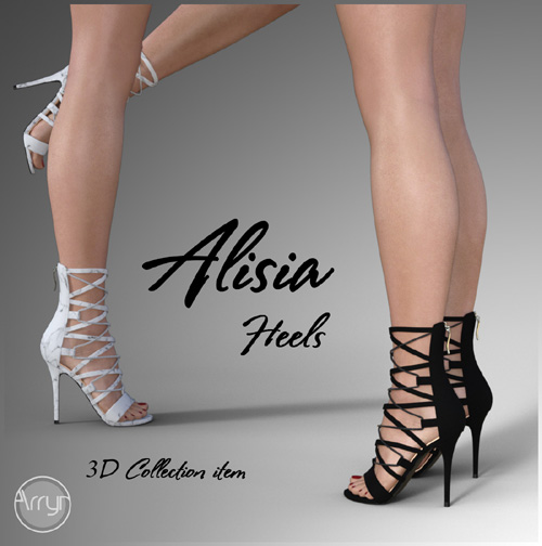 Alisia Heels for Genesis 3 Females