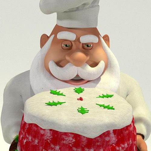Chef Santa - A Disguise of the Original Santa Claus for Poser, Toon Santa