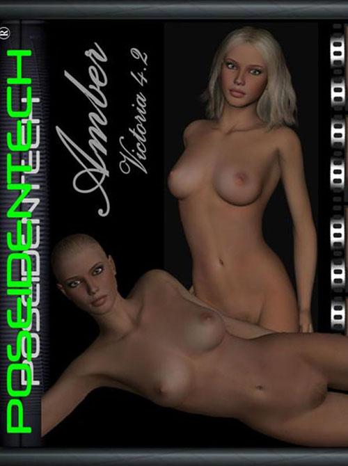 PoseidenTech's Amber for V4.2 character & genital morphs