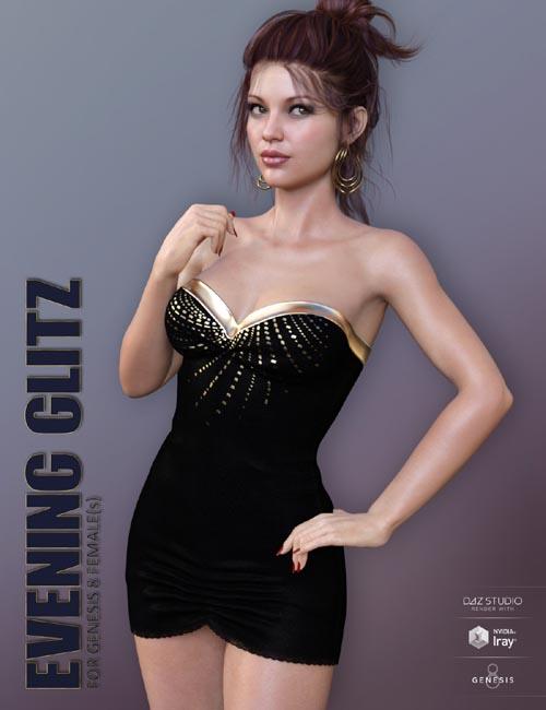 Evening Glitz for Genesis 8 Females