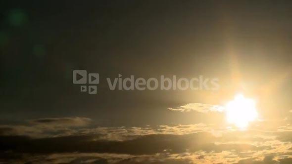Dense Cloud Sunset Timelapse