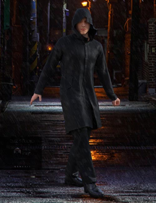H&C Raincoat Outfit for Genesis 3 Male(s)