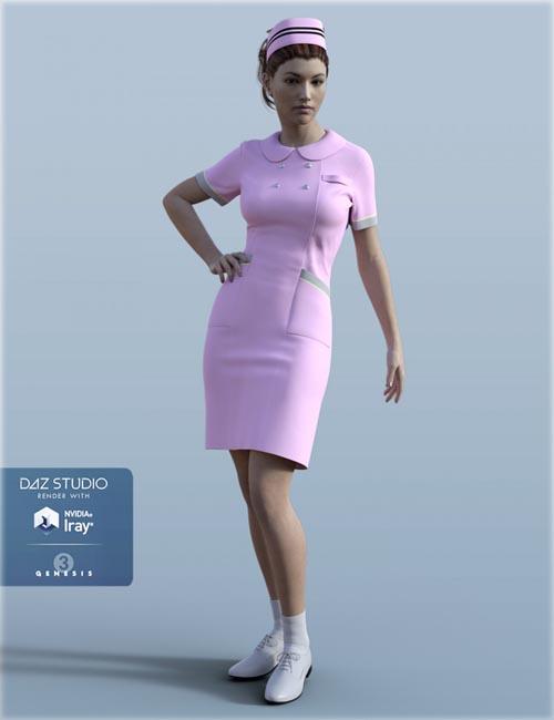 H&C Nurse Uniform for Genesis 3 Female(s)