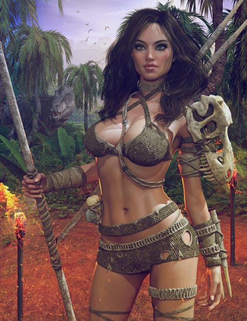 Dinosaur Queen Outfit for Genesis 8 Female(s)