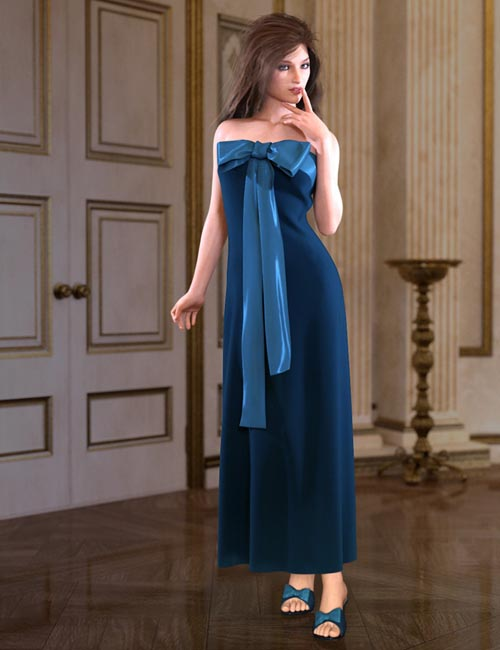 dForce Bow Dress for Genesis 8 Female(s)
