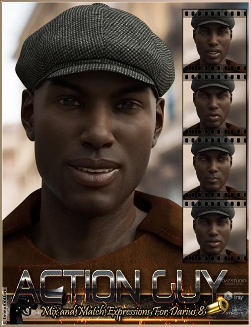 Action Guy Mix and Match Expressions for Darius 8 And Genesis 8 Male(s)