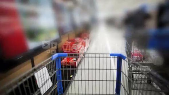 Shopping Cart Fast Blur
