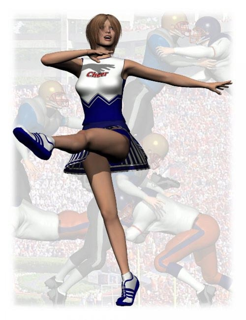 Cheerleader Poses for V4