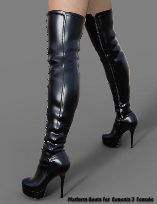 Platform Boots for Genesis 3 Female(s)