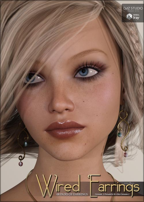 SV's Wired Earrings for Genesis 3 Female(s)
