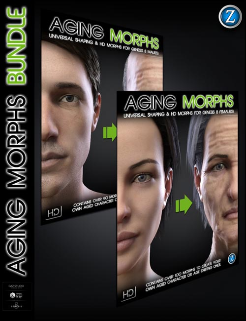 Aging Morphs Bundle for Genesis 8 Female(s) and Male(s)