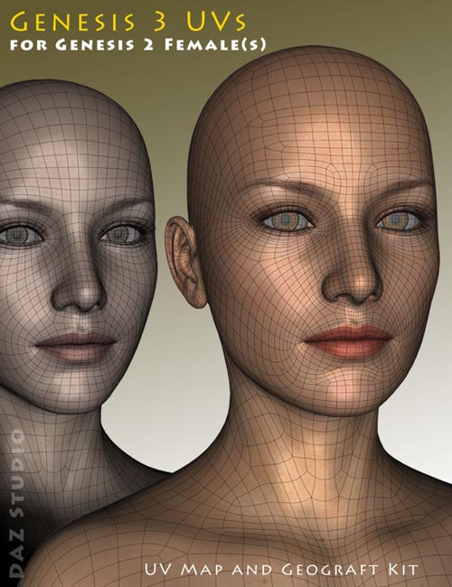 Genesis 3 UVs for Genesis 2 Female(s)