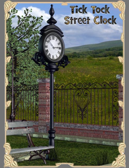 Tick Tock Street Clock