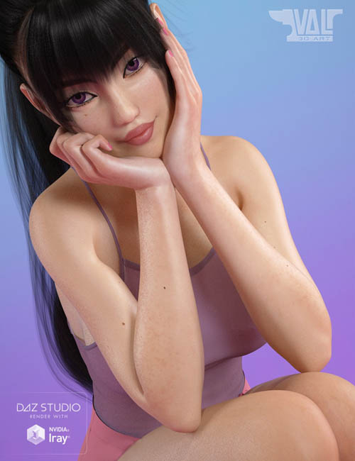 Adorable Kawaii Poses and Expressions for Genesis 8 Female(s)