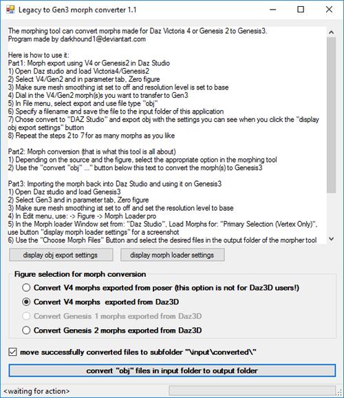 Legacy to G3 Morph Converter Beta 1.1