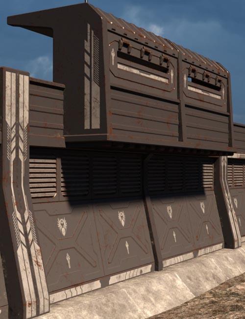 Sci Fi Perimeter Walls