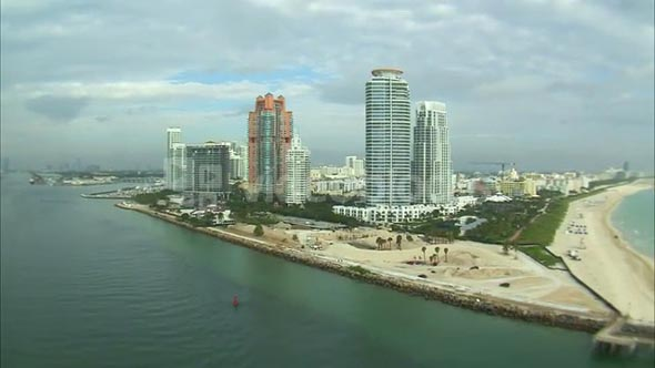 Aerial Shot of Hotels and a Miami Beach 3