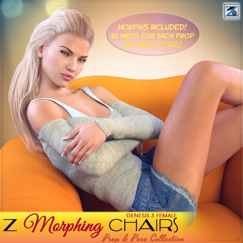 Z Morphing Chairs & Poses for Genesis 3 Female
