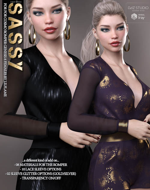 Sassy for Cosmo Romper Genesis 8 Females