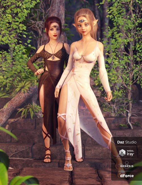 dForce Wild Nettle Outfit Textures
