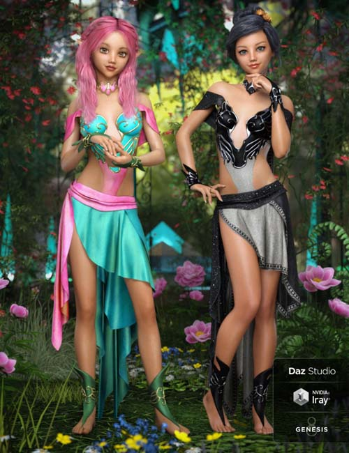 dForce Ethereal Fantasy Outfit Textures