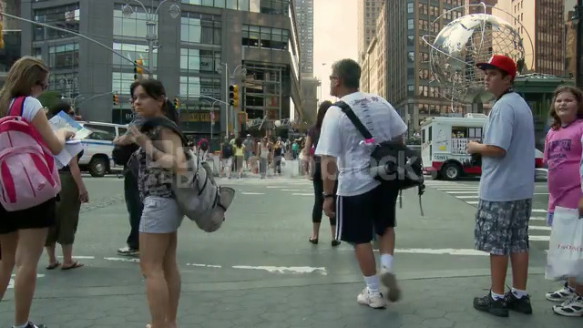 NYC People On Crosswalk