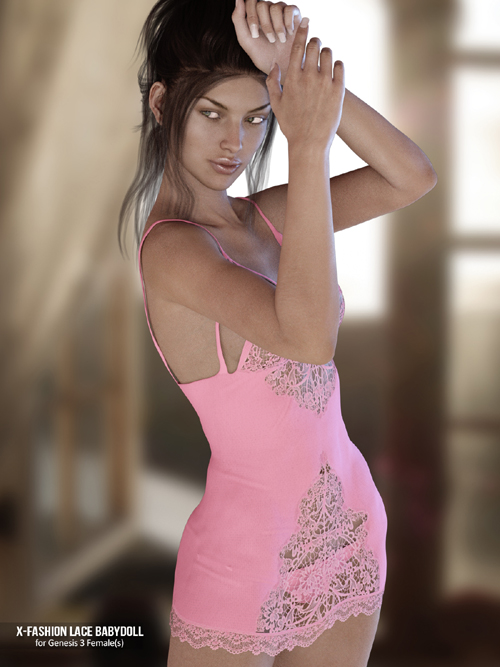 X-Fashion Lace Babydoll for Genesis 3 Females