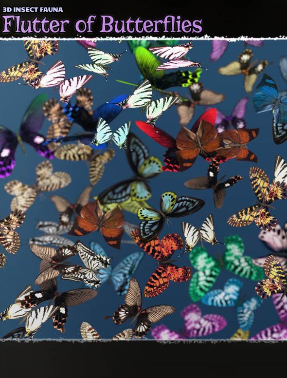 3D Insect Fauna: Flutter of Butterflies