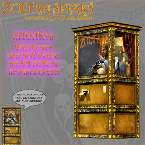 Zoltan Speaks Arcade Fortune Teller Machine