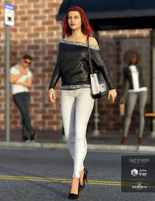 dForce City Limits Outfit for Genesis 8 Female(s)