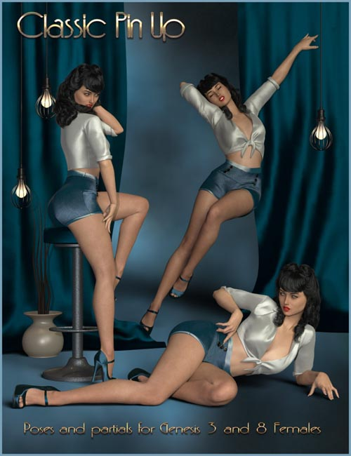 Classic Pin Up - Poses for Genesis 3 and 8 Female(s)