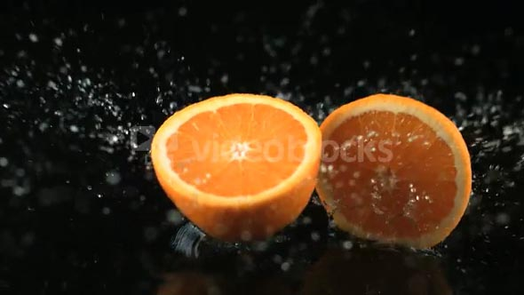Slow Motion Falling Oranges