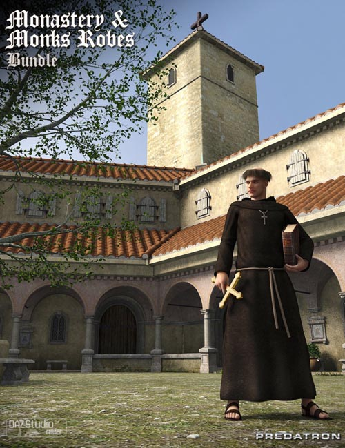 Monastery and Monks Robes Bundle
