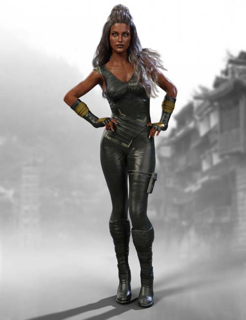 X-Fashion Warrior Outfit for Genesis 8 Female(s)