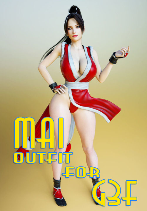 Mai Shiranui Outfit for G3F