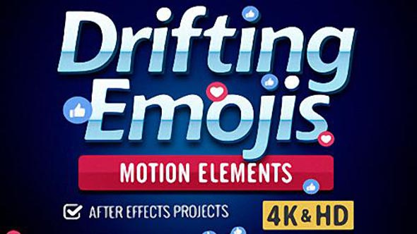 Drifting Emoji - Project for After Effects (Digital Juice)